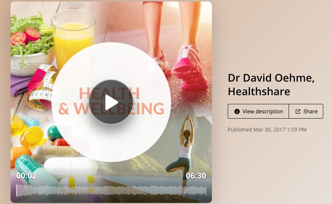Dr David Oehme Radio Interview